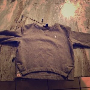 Gray Ralph Lauren Polo Crew Neck Sweatshit
